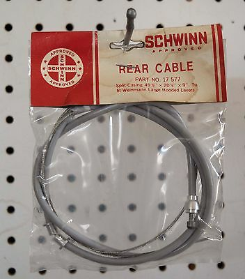 """42 932 54 1//2/"""" x 17 1//2/"""" NOS Schwinn Bicycle Trigger Control Cable Part No"""