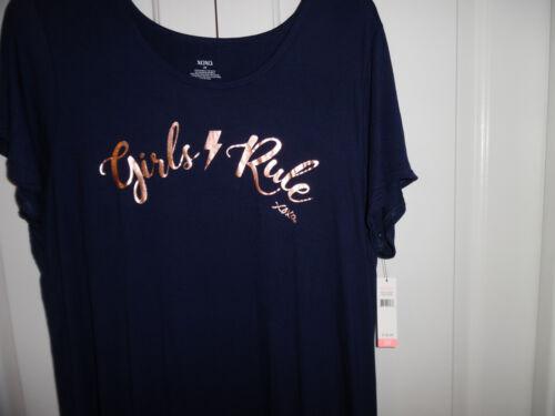 Girls notte Rule Nightshirt da Camicia Blue Short Xoxo 2x Sleeve Sleepshirt Nwt Womens vxnqT8wC6