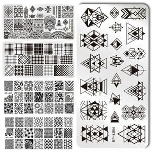 BORN-PRETTY-Nail-Stamping-Plates-Rose-Geometry-Nail-Art-Image-Templates-Tools