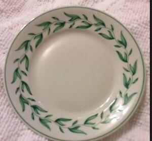 Image is loading Vintage-Shenango-China-Restaurant-Ware-Green-Leaf-Vine- & Vintage Shenango China Restaurant Ware Green Leaf / Vine USA 9 ...