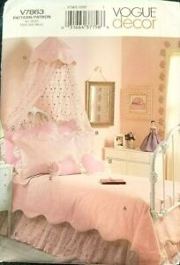 Details about Vogue 7863 Pattern Decor Girl Bedroom Canopy Bedskirt PLUS  UNCUT TWIN FULL SIZE