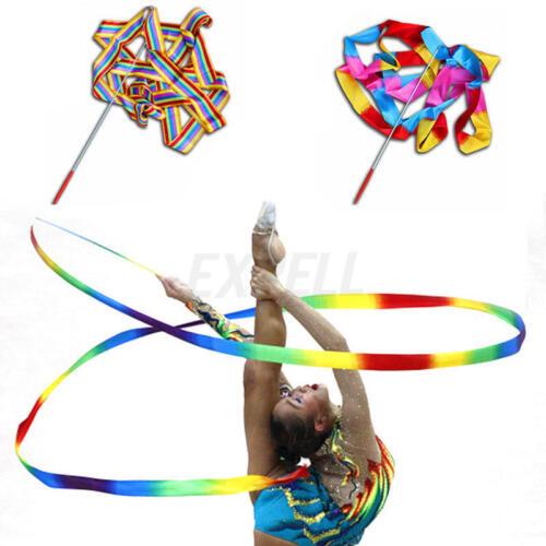 4m Nastro Ginnastica Artistica Balletto Ritmica Danza Balletto Bastone 37,4cm