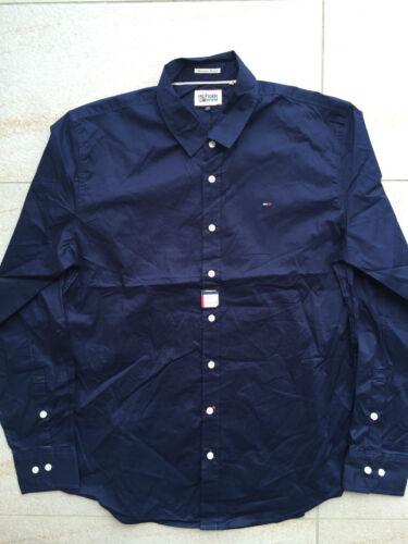 New Tommy Hilfiger Denim Men/'s Cotton Long Sleeve Shirt  White//Black//Navy Blue