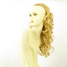 DT Half wig HairPiece extensions curly long light golden blond 22.8  REF 16/lg26