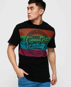 New-Mens-Superdry-Mens-Ticket-Type-Oversized-Fit-T-Shirt-Black