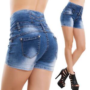 Pantaloncino Alta Vita Jeans Donna CQrhsdt