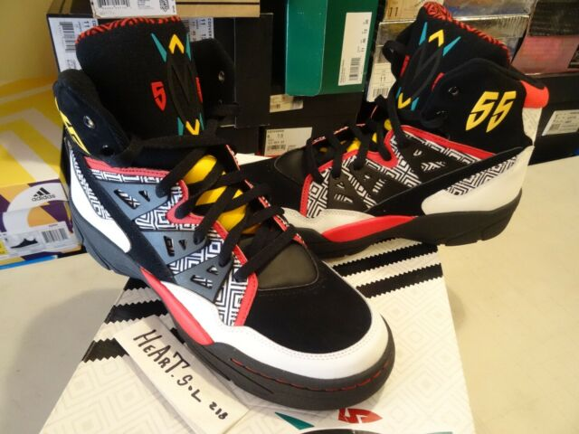 Dikembe Mutombo Shoe Size.Adidas Originals Dikembe Mutombo Retro Og White Black Red Yellow Q33018 Sz 11 5