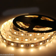 5m 300 LED Reel | 5050 Warm-WHITE NON-Waterproof Strip | 60 LED / Meter | 3500K