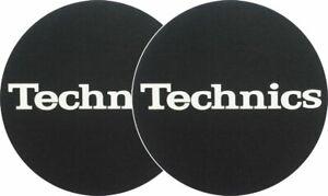 Slipmats Technics Logo White On Black Background 1 Pair Ebay