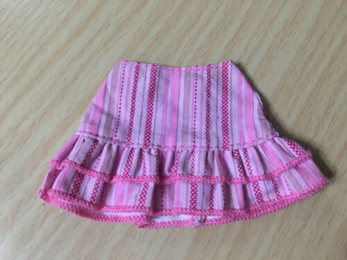 Barbie Doll Fashion Fever My Scene Pink Striped Ruffle Skirt Outfit Rare