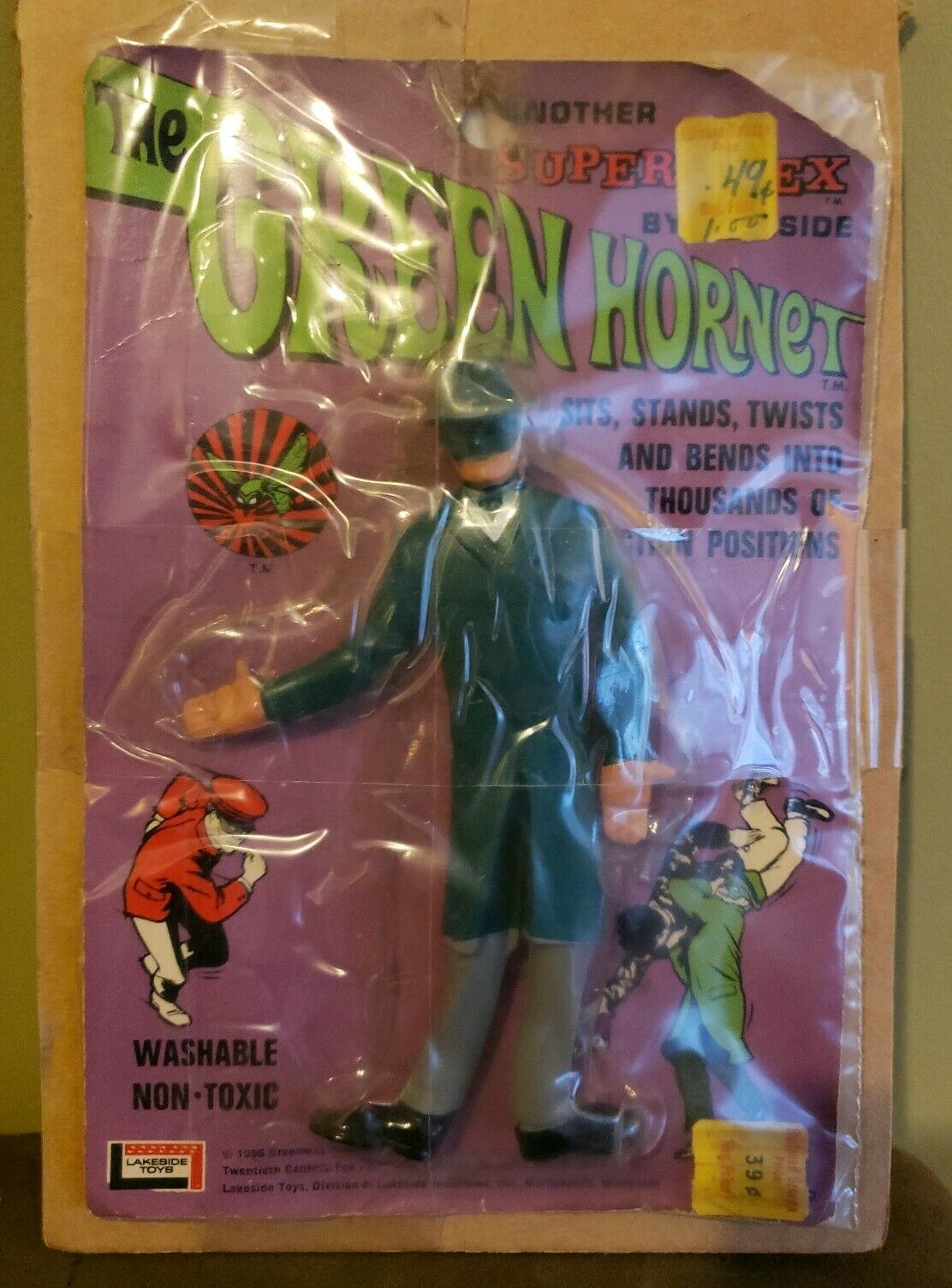 VINTAGE ABC TV mostrare THE verde HORNET SUPER FLEX cifra BY LAKESIDE autoDED  RARE