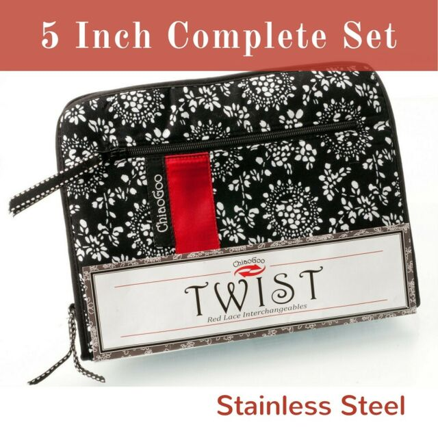 m Chiaogoo Needles Twist mini 13 cm set red Lace