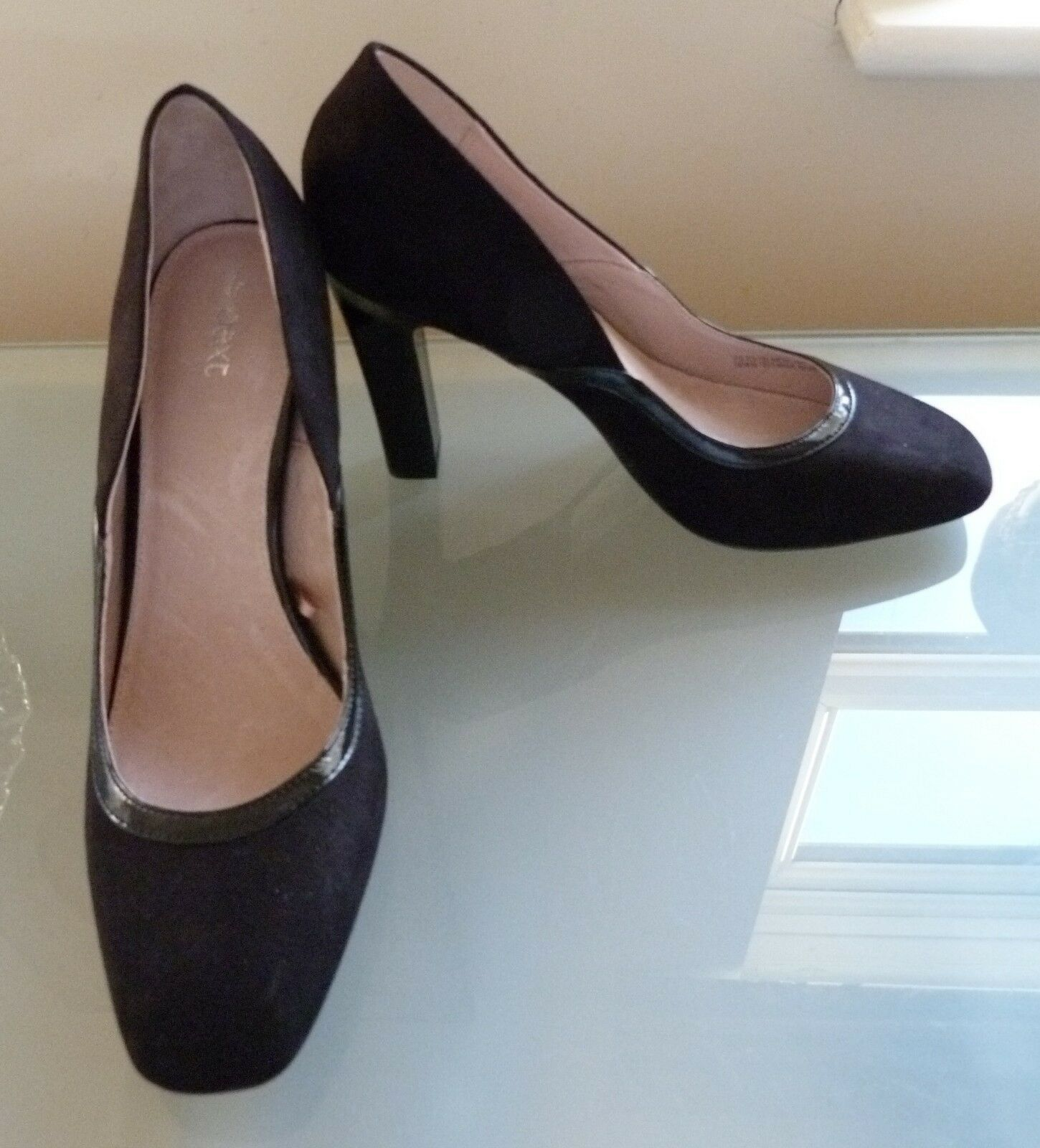 Next Ladies Shoes 7 41 Court Smart Work New BNWOT £28 Business Black Rounded Toe