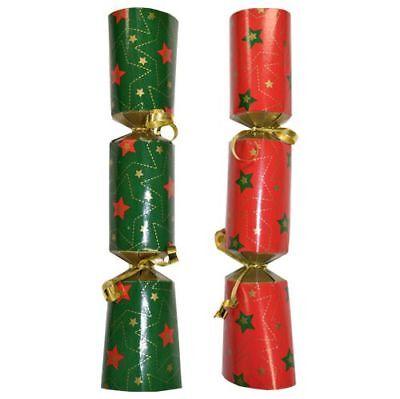 Box of 100 Bulk Pack Catering Christmas Crackers Christmas Cracker Red /& Green