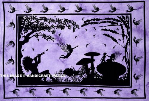 Cartel Colgante De Pared Indio Tierra de Hadas púrpura meditación esterilla para yoga tirar Tapiz