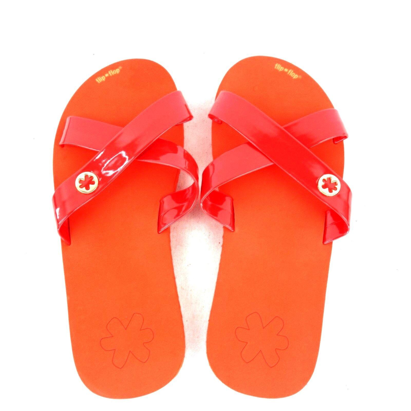 Flip Flop Women's Sandals Beach shoes Size 41 Red Summer Beach shoes Np 29