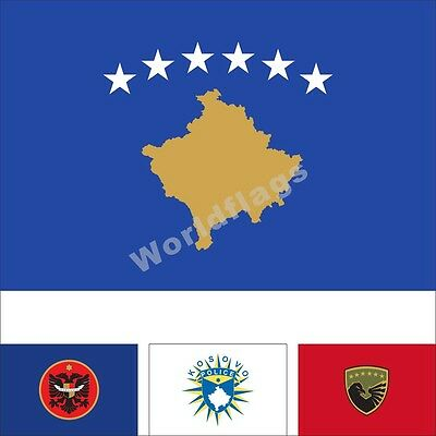Kosovo President Flag Dardania 3X2FT 5X3FT 6X4FT 8X5FT 10X6FT 100D Polyester