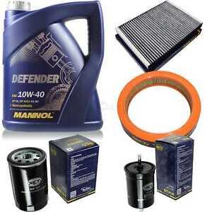 Olwechsel-Set-MANNOL-5L-Defender-10W-40-Motoroel-SCT-Filter-SET-KIT-10752619