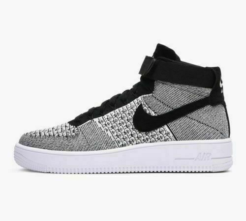 Nike Air Force 1 Ultra Flyknit Mid * NeroBianco * 817420 005 * UK 6