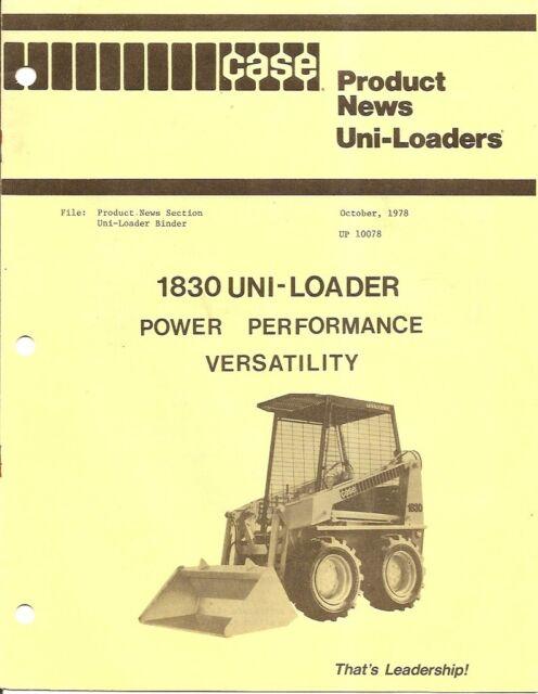 Equipment Brochure - Case - 1830 - Uni-Loader - 1978 PLUS BONUS (EB698)