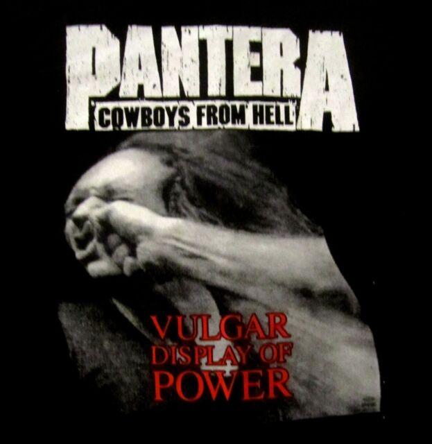 PANTERA cd cvr VULGAR DISPLAY OF POWER Official SHIRT 2XL New stronger than all