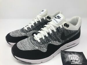 Details about NIKE AIR MAX 1 ULTRA FLYKNIT OREO WHITE BLACK WOMEN SIZE 12 [843387 100]