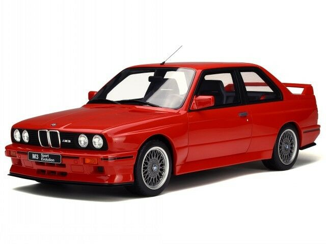 BMW e30 M3 red resin modelcar G033 Otto 1 12