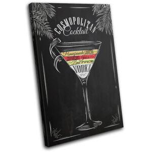Cosmopolitan-Cocktail-Alcohol-Vintage-SINGLE-CANVAS-WALL-ART-Picture-Print