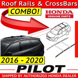 Oem Honda 2016 2020 Pilot Roof Rails Cross Bars Set 08l02tg7103 08l04tg7100 Ebay