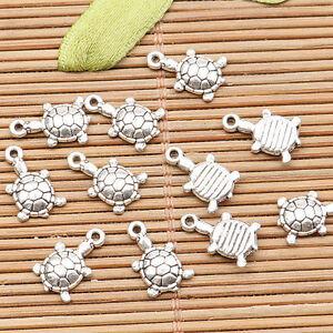 60pcs tibetan silver color cute little cartoon bird design  charms H1787