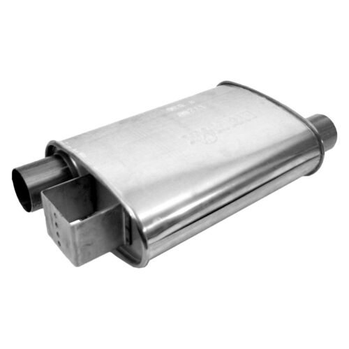 For Ford Mustang 86-93 Exhaust Muffler Ultra Flo Polished Stainless Steel Oval