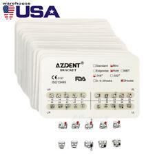 20packs Azdent Dental Brackets Braces Ministandard Mbtroth 022018 Hooks 3345