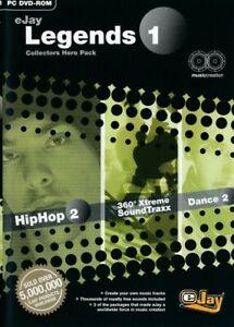 Details about eJay Legends 1 Triple Pack - Hip Hop 2 - Dance 2 - 360 Xtreme  PC DVD-ROM - NEW