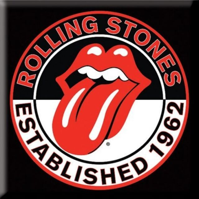 The Rolling Stones Fridge Magnet Classic Tongue Logo new Official 76mm x 76mm
