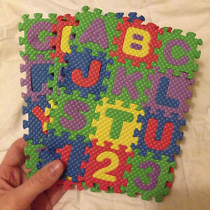 Funny 36Pcs* Alphabet Play Mat BABY SOFT FOAM Puzzle Letters & Numbers NT5