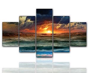 Designbilder 160x80cm 5 teilig auf Leinwand und Keilrahmen