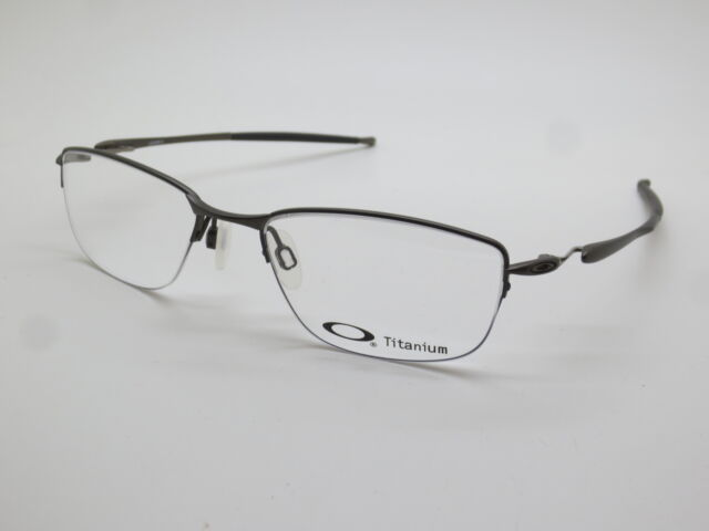 201a1e84198 Oakley 0ox5113 Lizard Semi Rim Rectangular Eyeglasses for Unisex Satin  Black 54