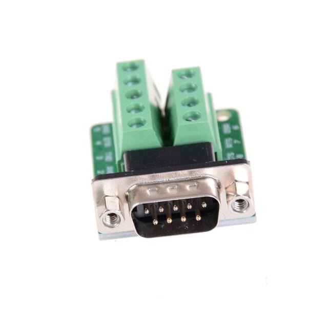 DB9 D SUB Male Adapter Platte 9 Pin Klemme Breakout Board UART RS232 KF396232