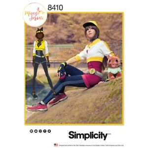 Simplicity-8410-Costume-SEWING-pattern-Pokemon-trainer-Cosplay-U5-size-16-24