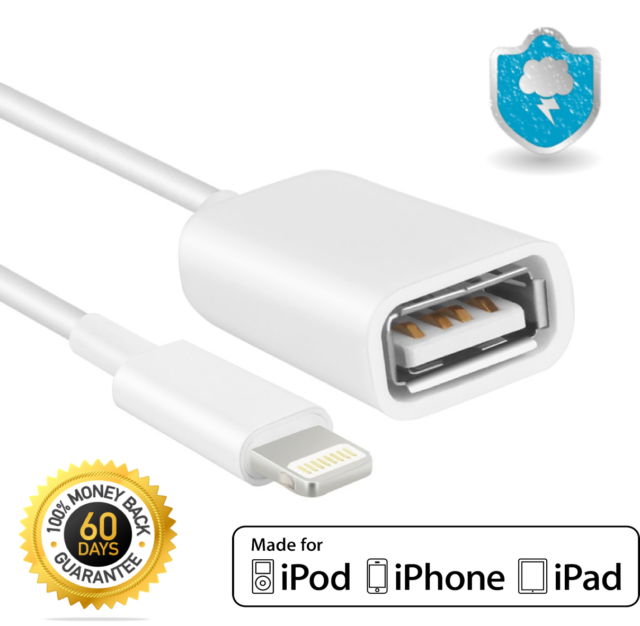 factory price b063d 90947 8 Pin Male to USB Female OTG Adapter Cable for iPhone 5 5s 6 6s 7 Plus
