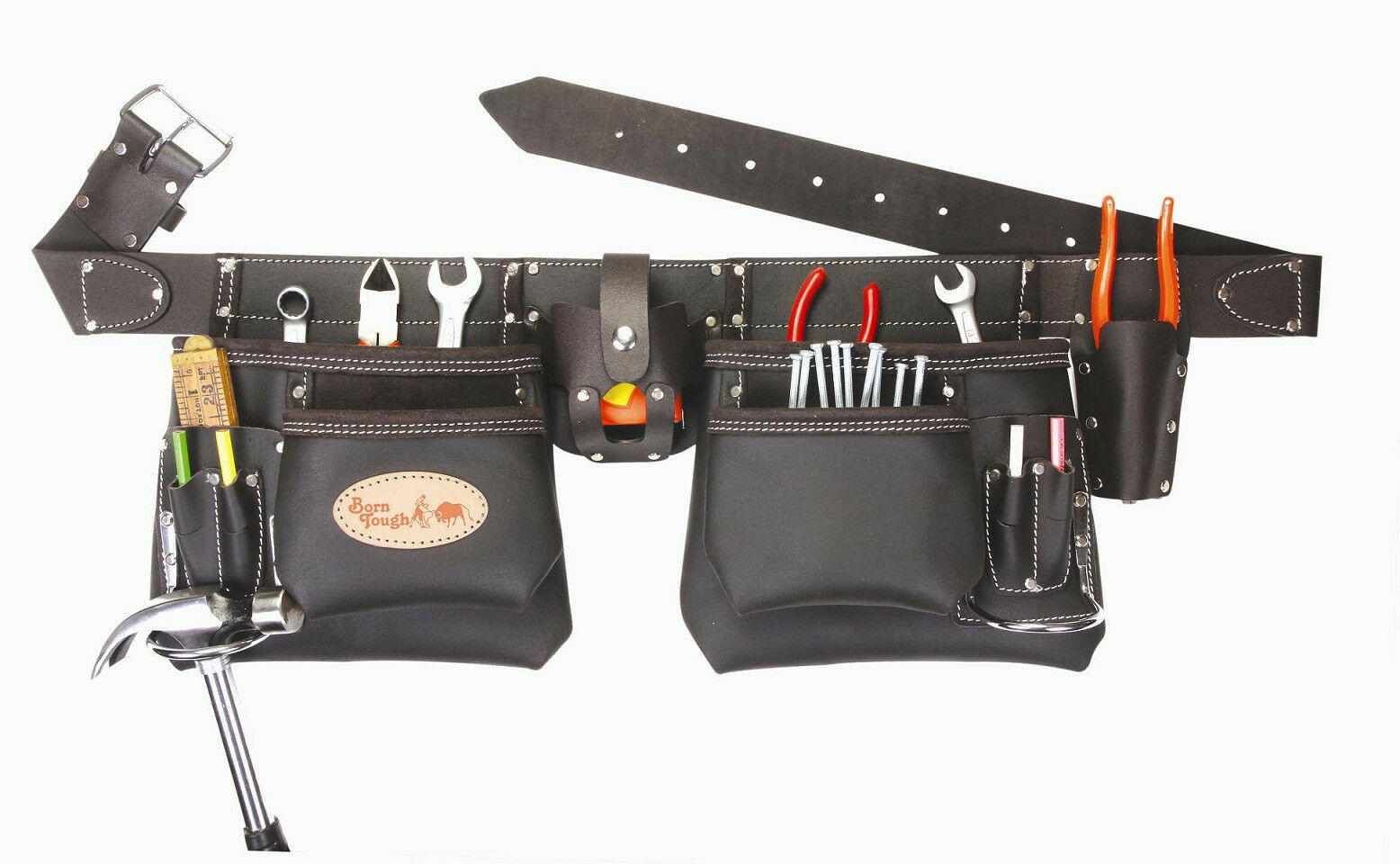 Top of the line Oil Tanned Leather Tool Pouch Bag Belt   Tool Rig
