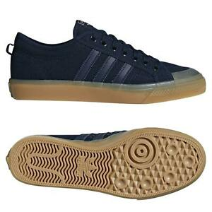 Details about adidas ORIGINALS NIZZA LOW CANVAS SHOES NAVY SKATEBOARDING TRAINERS SNEAKERS