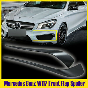 Painted Red Metallic Mercedes BENZ CLA 4DR W117 Front Bumper Lip Spoiler Cover