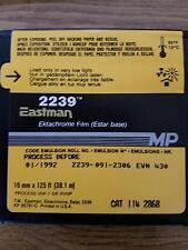 2239 Kodak Eastman EKTACHROME 16MM Color Negative Film Movie Camera 125FT