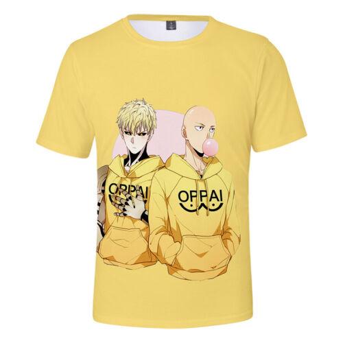 New Anime ONE PUNCH-MAN Saitama 3D Printed T-Shirt Summer Short Sleeve Tee shirt