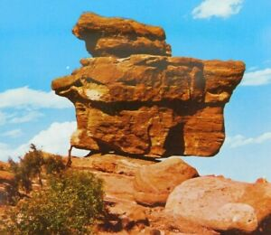 Details About Balanced Rock In The Garden Of The Gods Colorado Springs Co Vintage Postcard