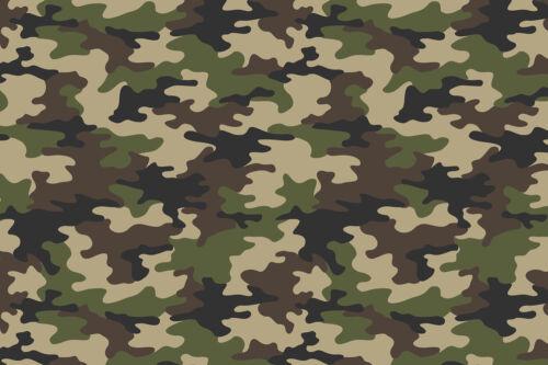 18 x 12 Camo HTV Heat Transfer Printed Tshirt Craft Vinyl Sheet Old School Army
