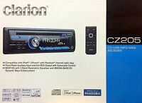 Clarion Cz205 Single Din In-dash Cd/am/fm Car Stereo, Front-panel Usb & Aux