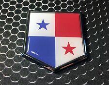 "PANAMA Flag Domed CHROME Emblem Proud Flag Car 3D Sticker 2""x 2.25"""