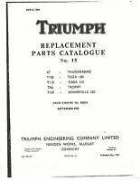 Triumph Parts Manual Book 1959 TR6 TROPHY & T120 BONNEVILLE 120